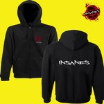 B&C Hooded Full Zip men Logo vorne / Insanes Schift hinten